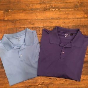 2 men's golf polos - performance fabric